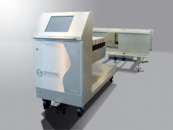 Pie lift weigher and checkweigher