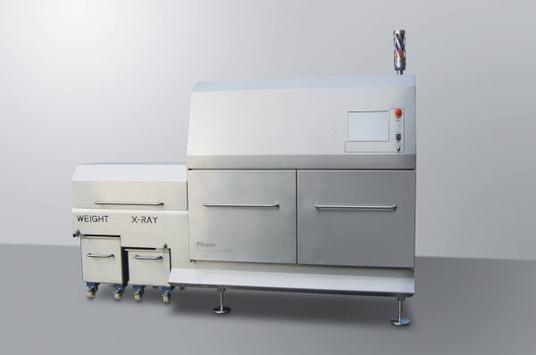 Combination x-ray and checkweigher system