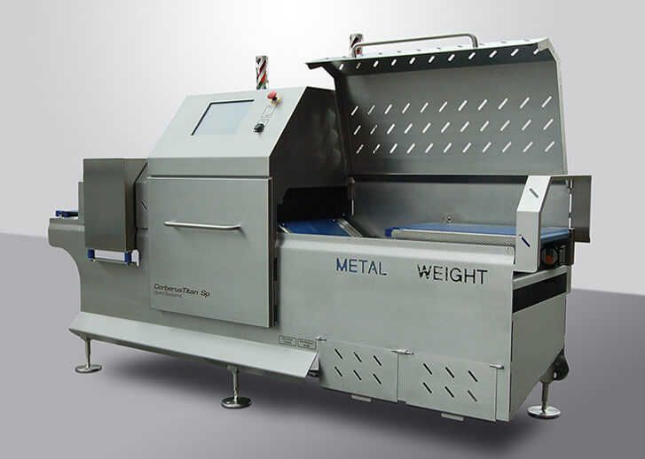 Metal detection inspection and checkweighing system for bread products