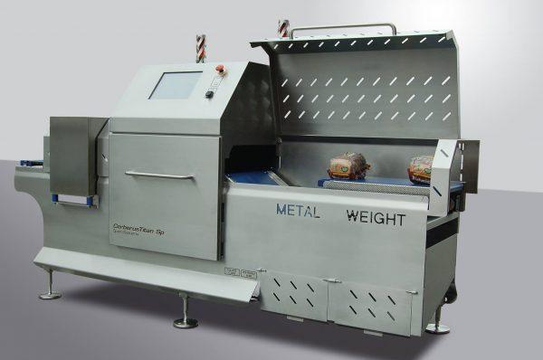 Metalldetektions-und Kontrollabwägung