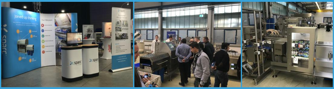 Sparc Systems wirkt bei der ersten Maschinenvorführung auf der Messe der Weber Innovation Days