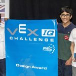 Engineering students at design event